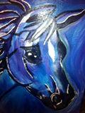 Blue Horse 60 cm x 60 cm
