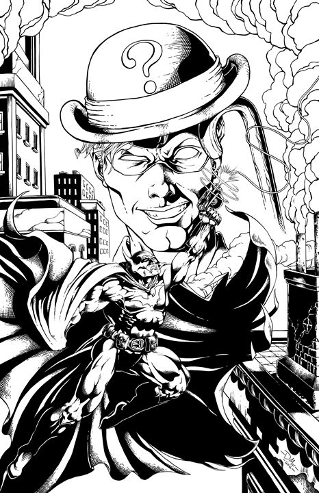 Batman in the shadow of the Riddler - David's Art