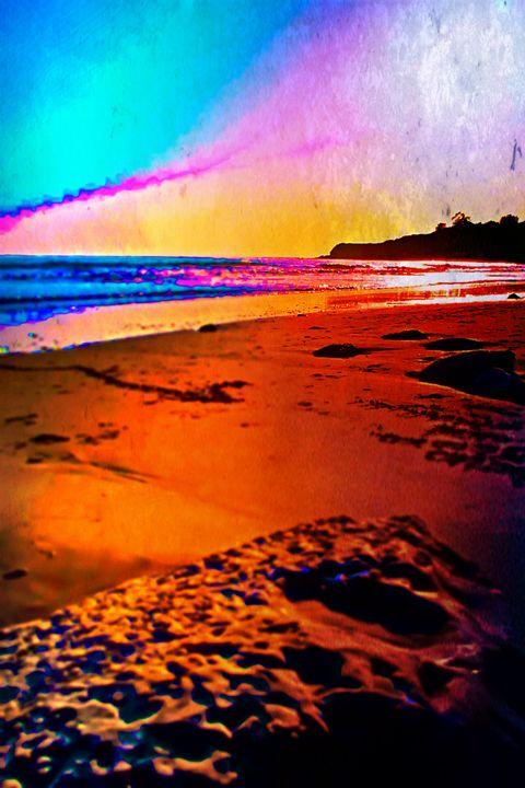 """Rainbow Beach - DCP""""S Radical Abstract Art"""