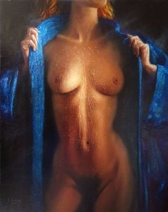In blue bathrobe - Alexandre Barbera-Ivanoff
