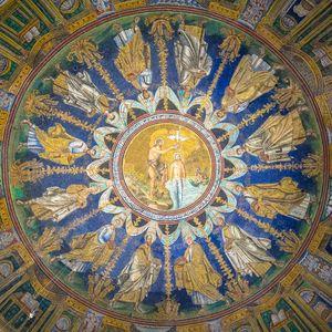 Historic byzantine mosaic