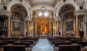 Antique baroque interior