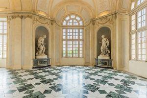 Corridor with luxury marbles