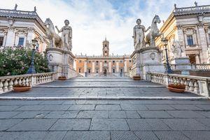 Capitolium Square in Rome - Italy
