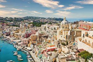 Procida panoramic view, Italy.