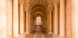 Luxury palace with marble columns