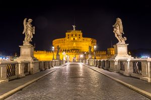Rome by night - Sant'angelo Castle