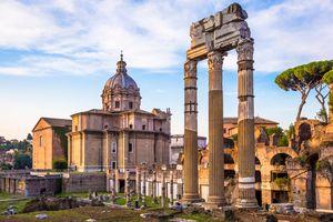 Sunrise light in Rome, Italy