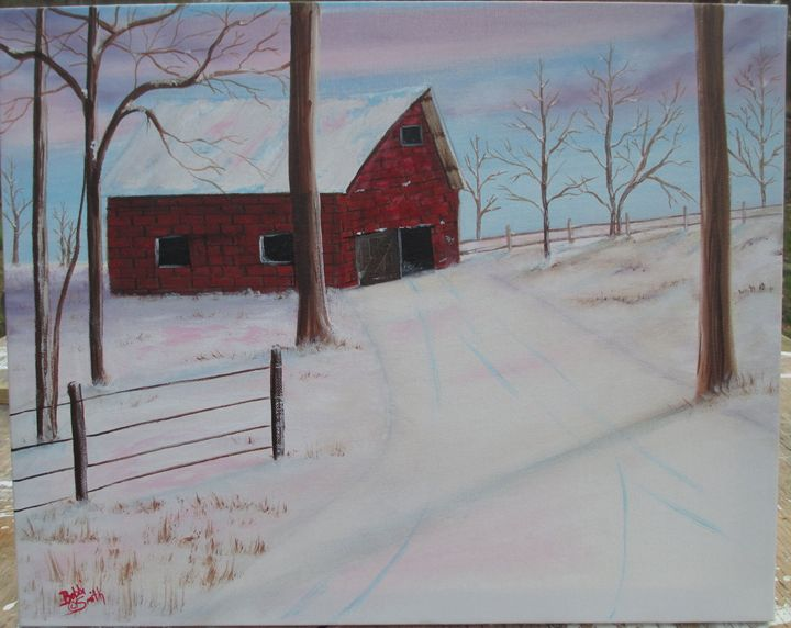Old Red Brick Barn - Bobbi Smith