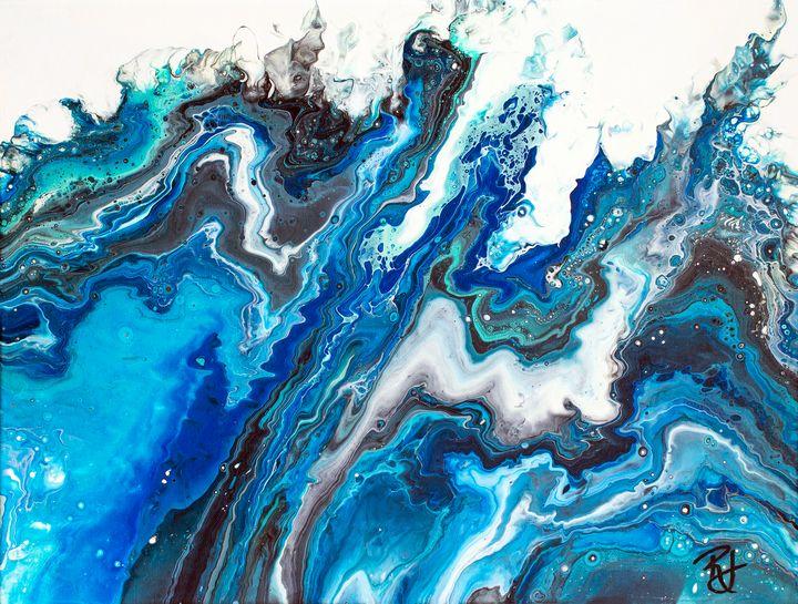 Abstract Blue Waves - Rachel Joy Studios
