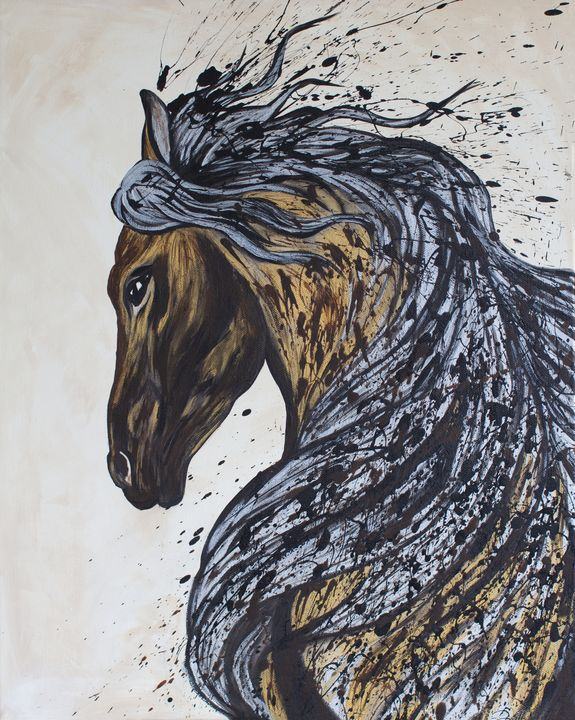 Silver and Gold Horse - Rachel Joy Studios