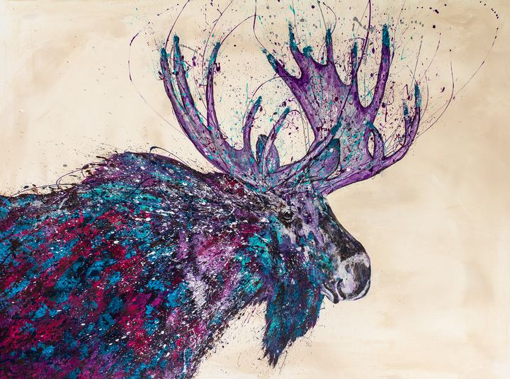 Colorful Moose - Rachel Joy Studios