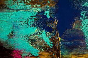 Aurora Blue Abstract