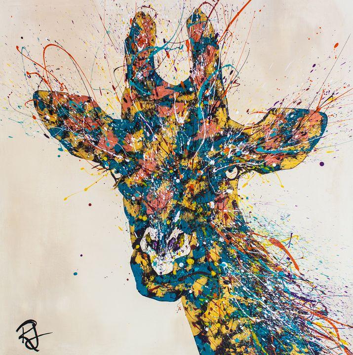 Giraffe Splatter - Rachel Joy Studios