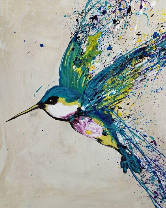 Colorful Hummingbird - Rachel Joy Studios