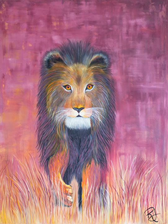 Golden Grass Lion - Rachel Joy Studios