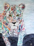 Colorful Lioness