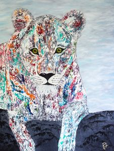 The Colorful Lioness