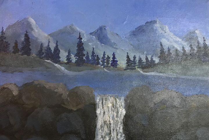mountain painting - Alaynnart