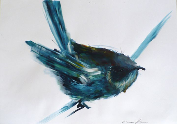 Bird in Blue - RV
