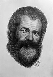Mel Gibson portrait