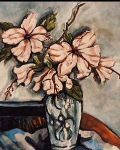 Floral & vase