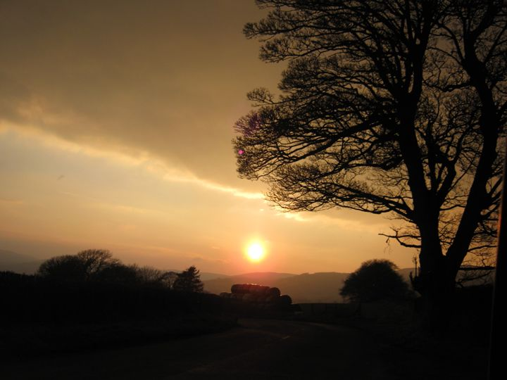 The setting sun - nature's window