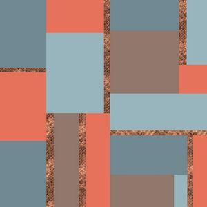 Squares and Copper Geometric Artwork
