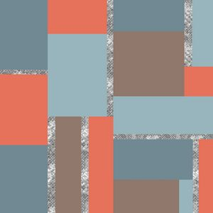 Squares and Silver Geometric Artwork