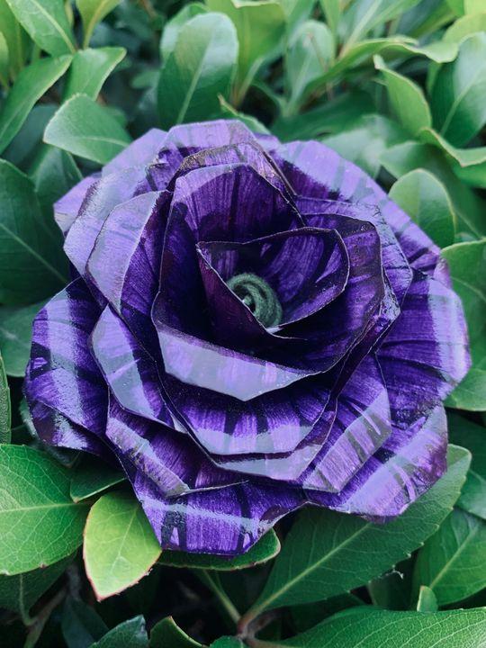 Painted Flowers - Violet Star