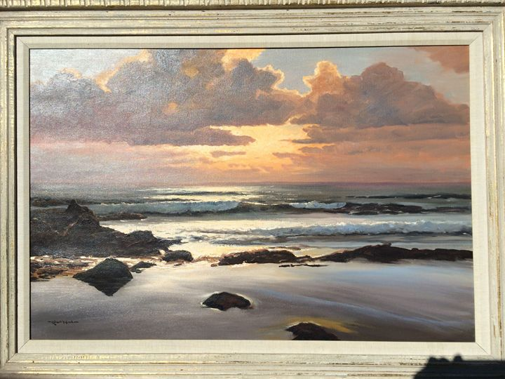 Silver Sands- Sunset - Robert Wood Painting
