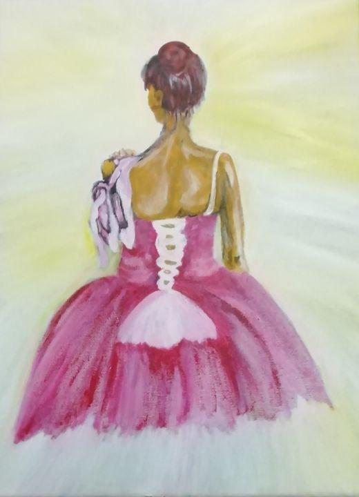 Ballerina painting - smALLVictoriesArt