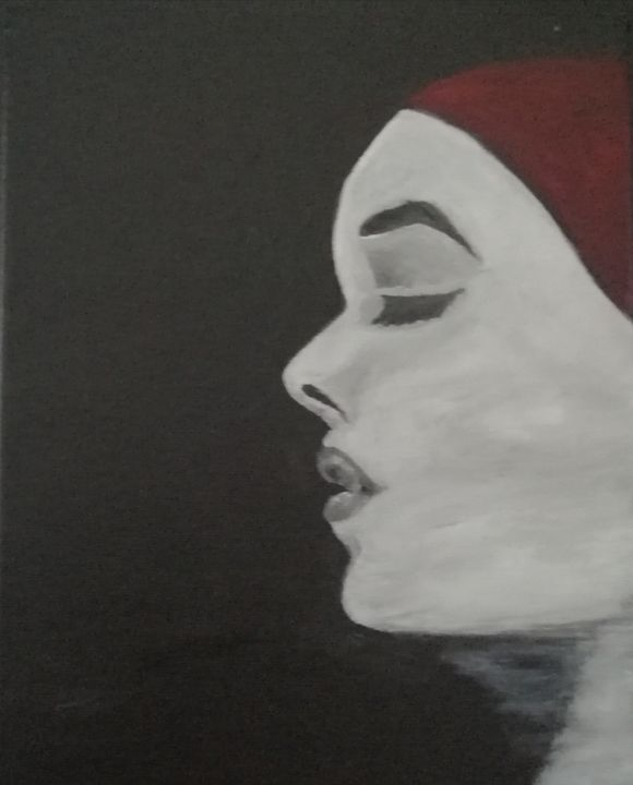 Woman with Red Bandana - smALLVictoriesArt