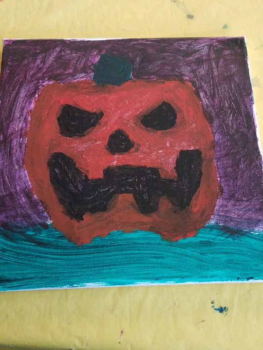 Creepy Pumpkin - Art of Meneses