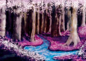 Fantasy Pink Forest