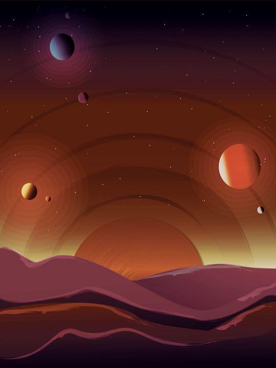 Alien planet skies - Justin Cobb