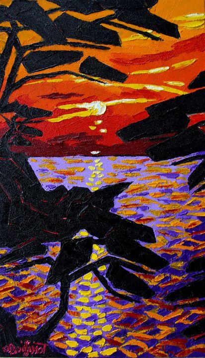 French Riviera sunset I - O.BOISSINOT