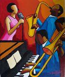 Jazz Trio pink dress