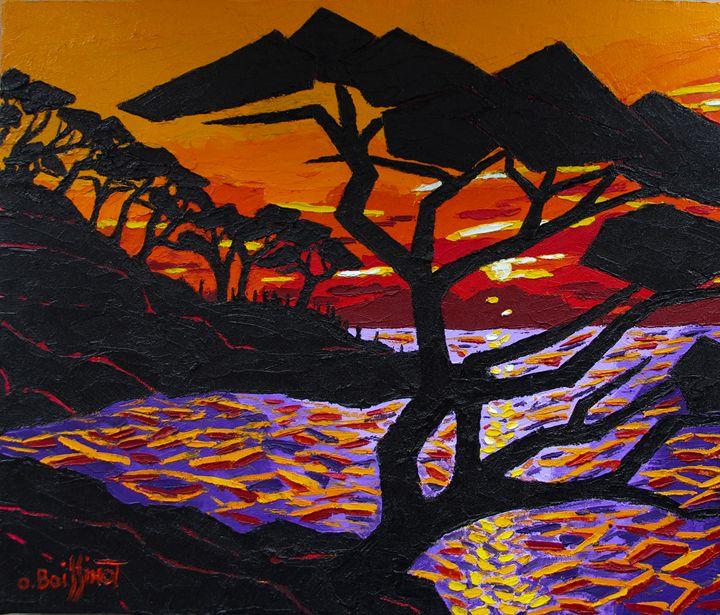 French Riviera sunset II - O.BOISSINOT