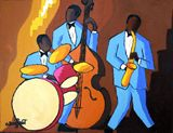 Jazz blue trio