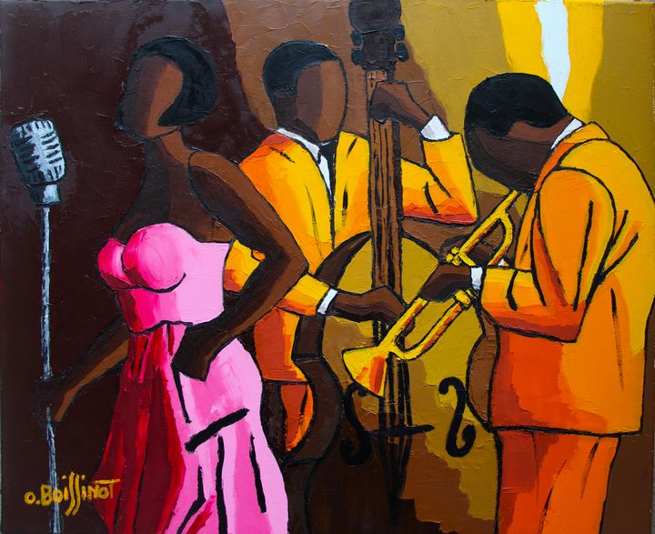Jazz trio pink orange - O.BOISSINOT