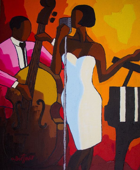 Jazz duo white dress - O.BOISSINOT