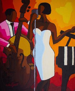 Jazz duo white dress