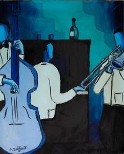 Jazz blue trio