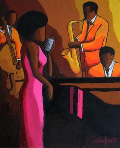 Jazz pink dress