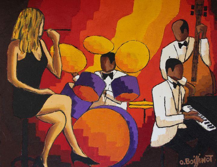 White trio in Paris - O.BOISSINOT