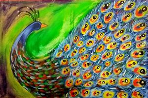 The blind peacock