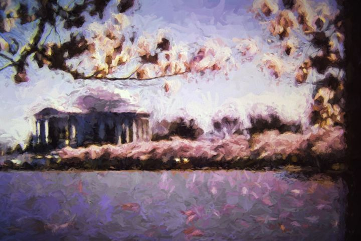 Jeffersonian Cherry Blossoms - Foto By Rudy