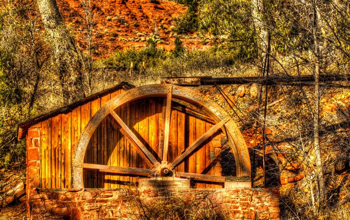 The Old Mill Water Wheel - Foto By Rudy