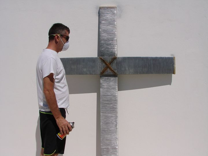 Large Wire Cross - Alexander